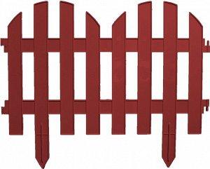 Забор декоративный Колышки №4 коричневые