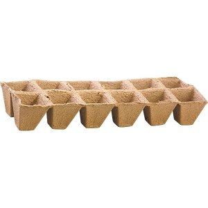 Торфяные горшочки квадратные 50x50 мм - 12 шт