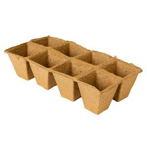 Торфяные горшочки квадратные 70x70 мм - 8 шт