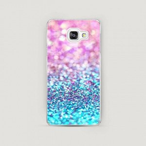 Силиконовый чехол Розово-голубые глиттеры рисунок на Samsung Galaxy A5 2016