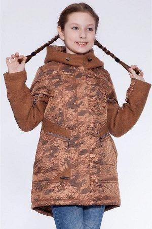 #22621 Детское пальто Коричневый