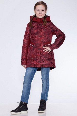 #22620 Детское пальто Бордовый