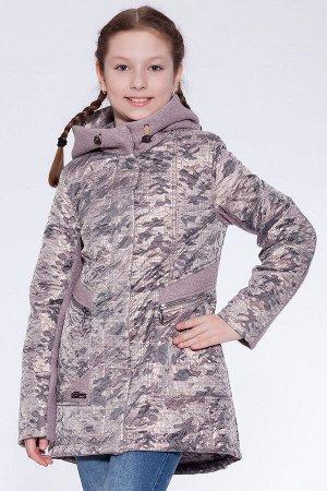 #22619 Детское пальто Серо-сиреневый