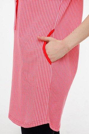 #57370 Туника красно-белый