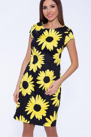 #60117 Платье (NIKA) Черный/желтый
