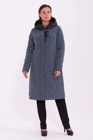 #84214 Пальто Сине-зеленый