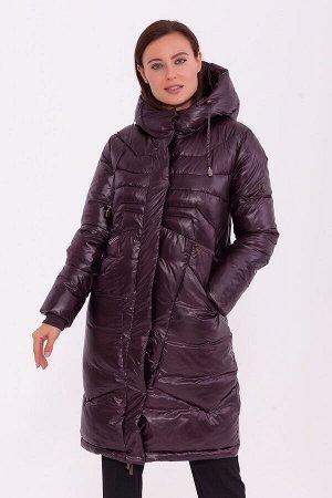 #84208 Пальто Баклажановый