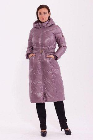 #84204 Пальто Пепельно-розовый