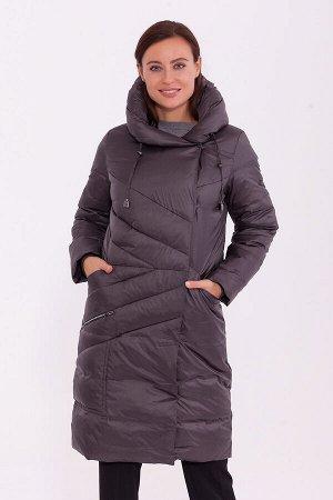 #84196 Пальто Темно-серый