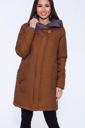 #56043 Пальто Коричневый