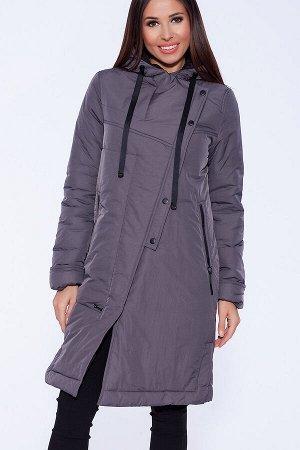 #56004 Пальто Серо-фиолетовый