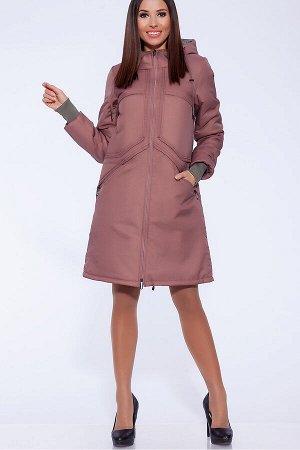 #56000 Пальто Пыльно-розовый