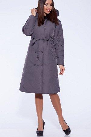 #55993 Пальто Серо-фиолетовый