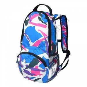 Рюкзак Д21хШ12хВ42 Рюкзак прогулочный, один основной отдел на молнии, карман на передней стенке, объемные карманы из сетки по бокам рюкзака, фиксация на груди. Рюкзак небольшой, но очень вместительный