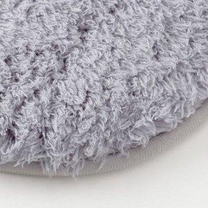 Ковёр овальный «Этель» Lama. цвет серый 40?60 см. 100% п/э