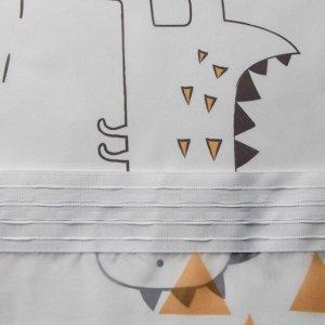 """Комплект тюлей """"Этель"""" Dinoparty 145*260 см-2 шт. 100% п/э. 140 г/м2"""