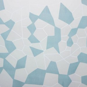 """Тюль """"Этель"""" Абстракция (цвет голубой) без утяжелителя, ширина 250 см, высота 270 см"""