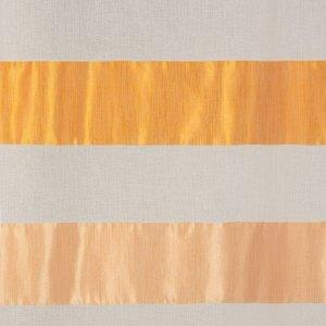 """Тюль """"Этель"""" 290х280 Оранжевое небо (горизонтальная полоса) б/утяжелителя, 100% п/э"""