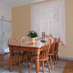 """Штора для кухни """"Этель"""" №3: Красные бабочки ширина 280 см. высота 170 см. 100% п/э"""
