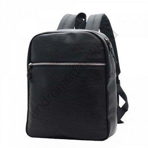Рюкзак Д28хШ10хВ35 Рюкзак прямоугольной формы выполнен из качественного кожзама, имеет один вместительный основной отдел на молнии, внутри карман для документов А4, планшета, а также карман на молнии