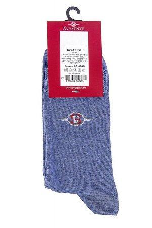 Носки Модель классическая. Цвет синий. Комплектация носки - 1 пара. Состав хлопок-85%, полиамид-10%, эластан-5%