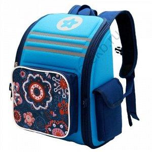 Рюкзак Д28хШ20хВ38 Легкий вместительный ранец имеет один основной отдел на молнии, накладной карман на передней стенке, два боковых кармана, внутренние карманы, ортопедическая спинка, мягкие заплечные