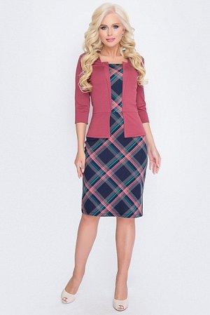 Платье Комбинированное платье из плотного трикотажа  Состав: 30% вискоза 65% п/э,5% эластан