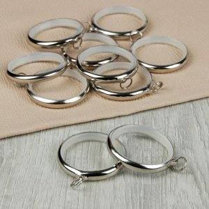 Кольцо для карниза. d = 36/48 мм. 10 шт. цвет серебряный