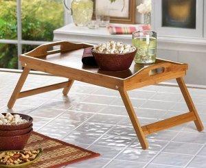 Столик деревянный складной с ручками