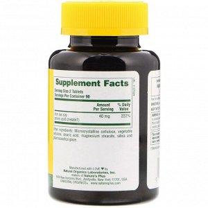 Nature&#x27 - s Plus, Железо, 40 мг, 180 таблеток