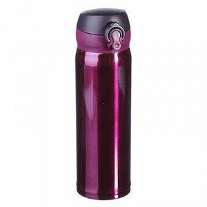 Бутылка-термос 0,45л с крышкой на защелке