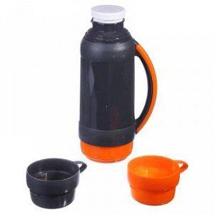Термос Шторм 1л + 2 чашки (768)