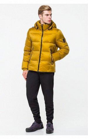 Теплая мужская зимняя куртка горчичного цвета CW18MD054DN (306 горчичный)