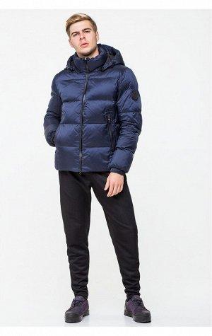Теплая мужская зимняя куртка синего цвета CW18MD054DN (501 синяя)