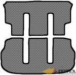 Коврик в багажник + 3 ряд (под 2 кресла) (с функцией полозьев) Mitsubishi Delica D:5 (2007-)