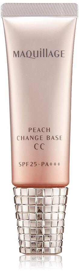 SHISEIDO Maquillage Peach Change Base CC - солнцезащитная СС база под макияж