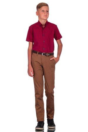 Брюки Сезон: демисезонные. Модель: casual без стрелок. Цвет: коричневый. Комплектация: брюки. Состав: хлопок-97%, эластан-3%. Бренд: Svyatnyh. Фактура: узор. Посадка: узкие.