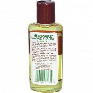 Cococare, Africare, Масло Витамина Е для волос 2 жидких унции (60 мл)
