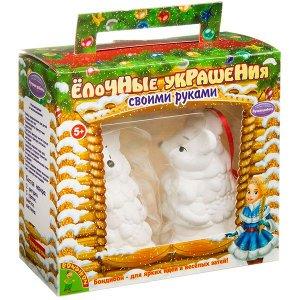 """Набор для творчества  BONDIBON. """"Новогодние украшения"""" Мышки 2шт.в подарочной упаковке"""