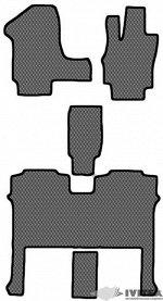 Ковры салонные 1 и 2 ряд (без функции полозьев) 2 ряд 2 кресла Nissan Serena (2010 - 2016)