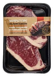 "Стейк на косточке ""Стриплойн"" Dry Aged из говядины Matured Beef"