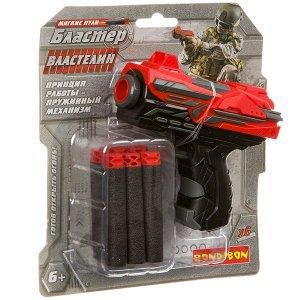 Бластер Bondibon «ВЛАСТЕЛИН», мини, в наборе 6 мягких пуль, BLISTER 18,6х16,5х4см