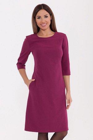 Платье (Цвет: Лилово-бордовый) 943-0176