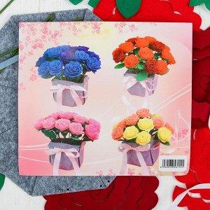 Набор для создания букета из фетра «Розы», цвет красный
