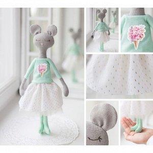 Мягкая игрушка «Сонная мышка Милли», набор для шитья, 18 × 22.5 × 2см