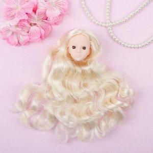 Голова для изготовления куклы, волосы «Кудри» блондинка, цвет глаз: карий