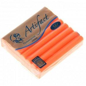 Пластика - полимерная глина 56г флуоресцентный Оранжевый