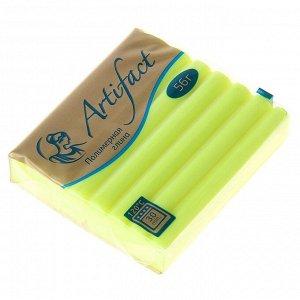 Пластика - полимерная глина 56г флуоресцентный Лимонный