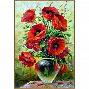 Алмазная мозаика «Маковый букет», 31 цвет, 20 х 30 см