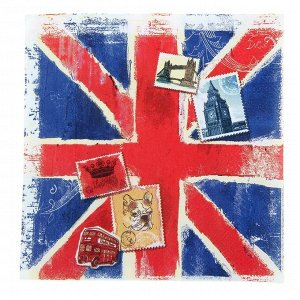 Салфетки «Британский», 33 ? 33 см, набор 10 шт